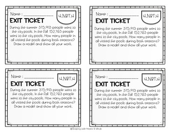 Exit Tickets: Place Value