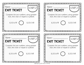 Exit Tickets or Quick Check