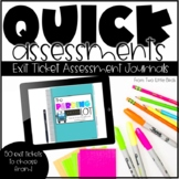 Exit Tickets | Quick Formative Assessments | Printable & Digital