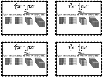 Ratio & Percent Exit Tickets {Exit Slips for Quick Assessments}