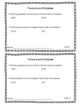 Ratios and Proportional Relationships | Exit Tickets