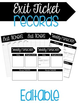 Exit Tickets Records