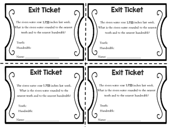 Exit Tickets: Rounding Decimals