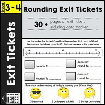 Exit Tickets - Rounding Numbers 3rd Grade
