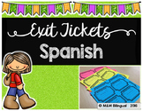 Exit Tickets - SPANISH