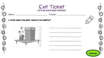 Exit Tickets- Science
