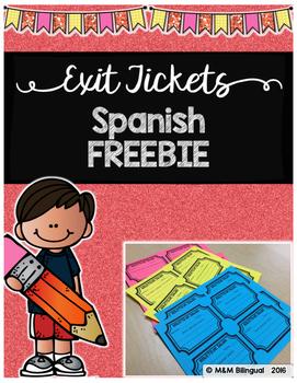 Exit Tickets - Spanish Freebie