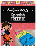 Exit Tickets - Spanish Freebie
