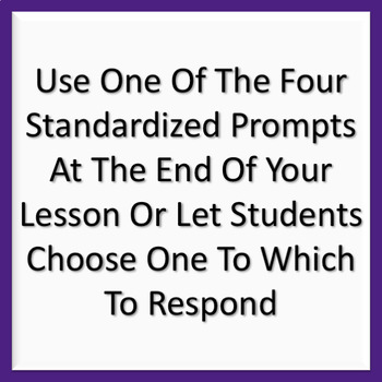 Exit Tickets: Standard Prompts for Any Subject or Lesson