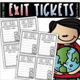 Exit Tickets Student Understanding Activity Cards Slips Social Studies EDITABLE