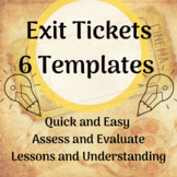 Exit Tickets Templates - Editable for Any Subject