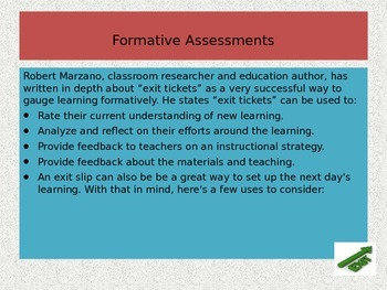 Exit Tickets: The Key to Formative Assessments!