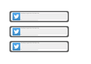 Exit Tickets (Twitter theme)
