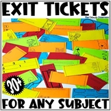 Exit Tickets for Any Subject | Paper and Digital Version Combined