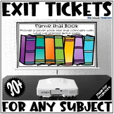 Exit Tickets for Any Subject - Projectable