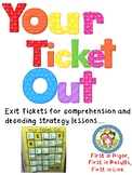 Exit Tickets for Assessing Reading, Comprehension, and Decoding Strategies