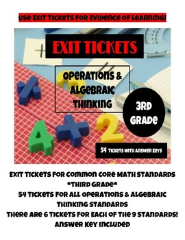 Exit Tickets for Common Core Math Standards - Operations &