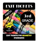 Exit Tickets for 3rd Grade Math Standards - Geometry