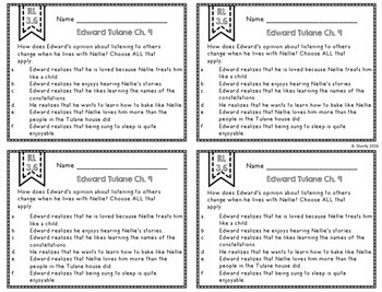 Exit Tickets and Socratic Seminar Questions for Edward Tulane