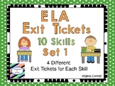 Exit Tickets for English Language Arts Skills--10 Skills Covered