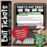Exit Tickets for Google Classroom | Distance Learning | An