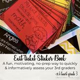 Exit Ticket Sticker Book for Grade 3