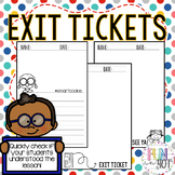 Exit Tickets for Little Learners