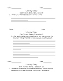 Exit Tickets for Lucy Calkins Grade 6 Literary Essay Unit Bend 2