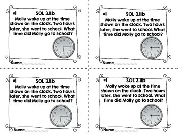 Exit Tickets for Math SOL 3.11
