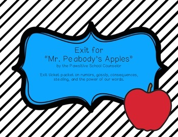 """Exit Tickets for """"Mr. Peabody's Apples"""""""