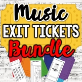 Exit Tickets for Music Class BUNDLED MEGA Pack