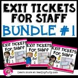 Exit Tickets for Staff BUNDLE- Principals/Activity Leaders