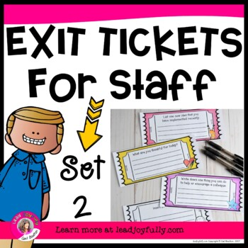 Exit Tickets for Staff -SET 2 (Principals/Activity Leaders)