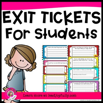 Exit Tickets for Students (For TEACHERS/COUNSELORS)