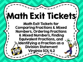 Exit Tickets for Virginia SOL 4.2