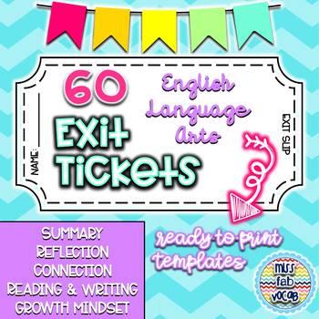 Exit Tickets: Closure for the ELA Classroom
