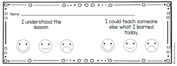 Exit Tickets for the Elementary Library Grades K-2