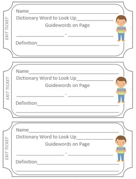 Exit Tickets for the Library and Language Arts