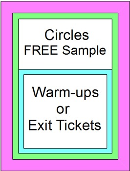 Circles - Exit Tickets (Sample)