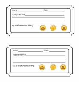Exit Tickets (pack of 5)