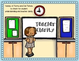 Exit Tickets to Check for Teacher Clarity