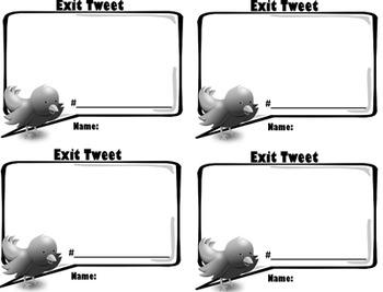 Exit Slip - Exit Tweet!