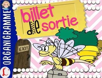 FREEBIE! Exit ticket: Billet de sortie pour le vocabulaire
