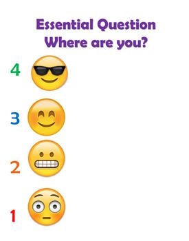 Exit ticket Emoji Poster