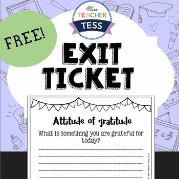 Exit ticket FREEBIE