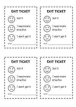 #endoftermdollardeals Exit ticket {Printer friendly}