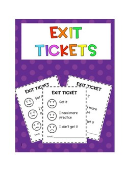 Exit ticket {Printer friendly}
