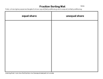 Exit ticket for equal partitioning - Fractions of a rectangle
