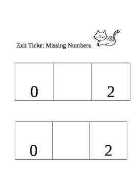 Exit ticket missing numbers 1-5