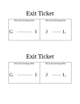 Exit ticket (prek letters)